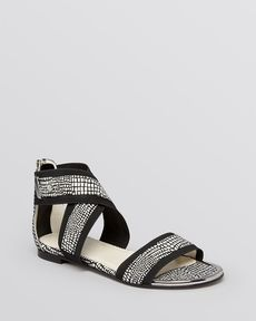 Stuart Weitzman Open Toe Flat Sandals - Expo