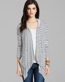 Splendid Cardigan - Montrose Stripe Hooded