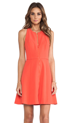 Trina Turk Bishop Dress in Orange