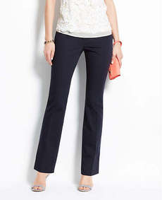 Petite Curvy Cotton Sateen Straight Leg Pants