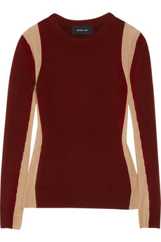 Derek Lam Paneled cashmere sweater