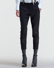 Brunello Cucinelli Two-Tone Cigarette Pants