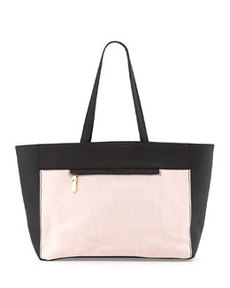 French Connection Perforation Celebration Tote Bag, Dusty Pink