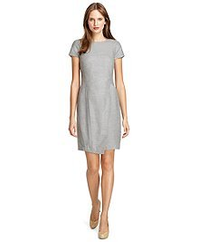 Wool Cap Sleeve Dress