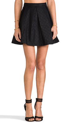 DV by Dolce Vita Marin Faux Leather Skirt in Black