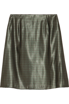 Marc Jacobs Houndstooth silk-blend lamé skirt