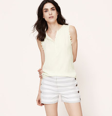 Lace Trim Henley Shell