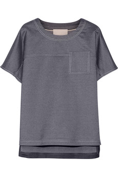 Jason Wu Silk-chambray top