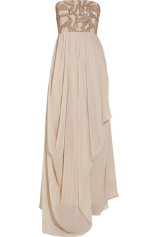 Alice + Olivia Bess embellished silk gown