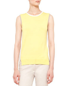 Colorblock Split-Hem Wool  Tank   Colorblock Split-Hem Wool  Tank