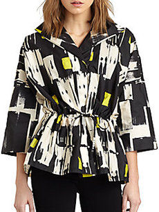 Lafayette 148 New York Justina Tribal-Print Jacket