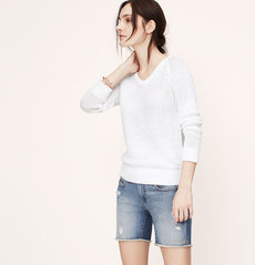 Petite Textured Linen Sweater