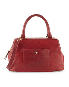 Etienne Aigner Epic Leather Satchel/Shoulder Bag, Cordovan Red