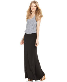 kensie Solid Knit Maxi Skirt