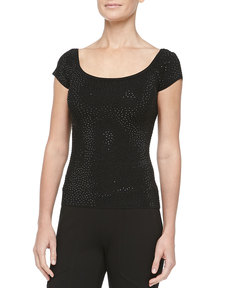 MICHAEL KORS Beaded Knit Top
