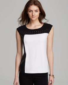 Calvin Klein Color Block Stud Top