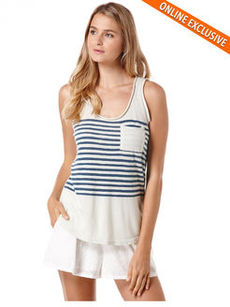 printed stripe tank