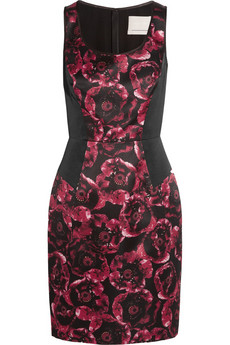 Jason Wu Floral-print silk-satin dress