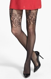 Nordstrom Mesh Floral Tights