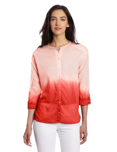 Michael Stars Women's Caymans Dip Dye Voile Button Up Shirt