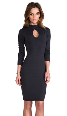 "Susana Monaco Tory 22"" Dress in Charcoal"