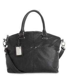 Tignanello Polished Pockets Leather Convertible Satchel