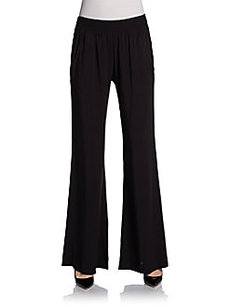 Saks Fifth Avenue BLUE Wide-Leg Draped Pants