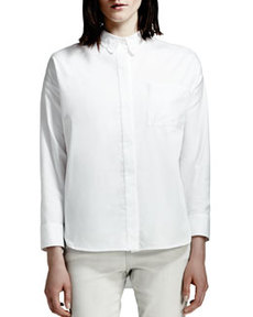 Lace-Collar Blouse, White   Lace-Collar Blouse, White