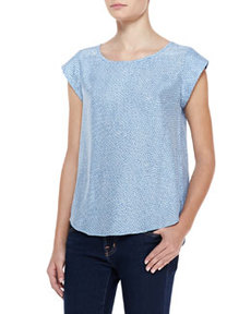 Rancher B Printed-Silk Top   Rancher B Printed-Silk Top