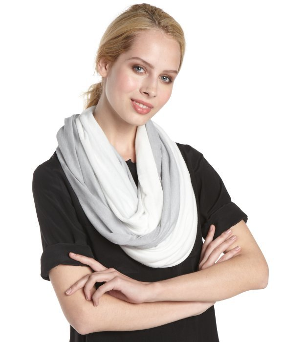 Calvin Klein dove and grey stretch ombre accent 'Infinity' scarf