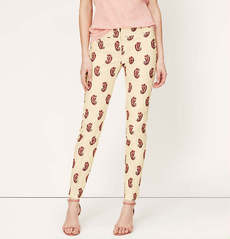 Petite Paisley Print Ankle Pants in Zoe Fit