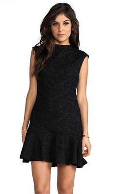 Dolce Vita Cecilia Flower Lace Dress in Black