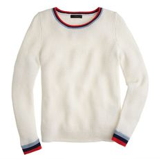 Basket-weave tennis sweater