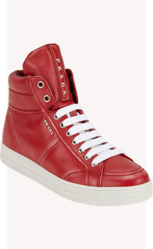 Prada Linea Rossa Hidden-Wedge High-Top Sneakers
