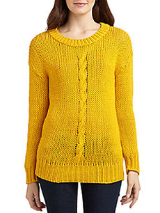 Robert Rodriguez Cable Knit Cotton Sweater