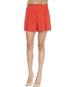 Robert Rodriguez Silk Wide-Leg Shorts