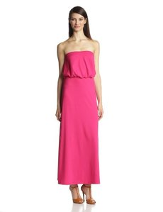 Susana Monaco Women's Light Supplex 40-Inch Blouson Tube Maxi Dress