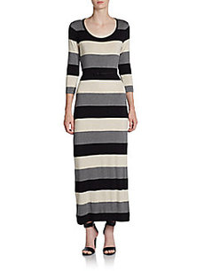 Calvin Klein Striped Knit Maxi Dress