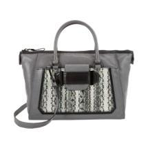 Milly Python-Embossed Lilly Satchel
