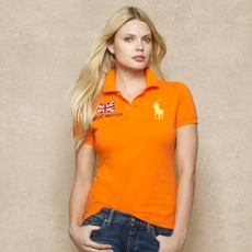 Cotton Mesh Flag Polo Shirt