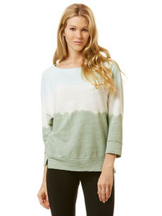 baby french terry ¾ sleeve dip dye sweatshirt