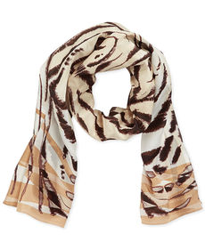 Jones New York Crouching Tiger Silk Wrap