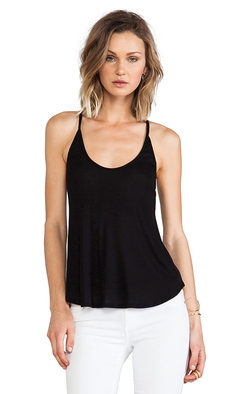 Rachel Pally Rib Mona Tank Top in Black