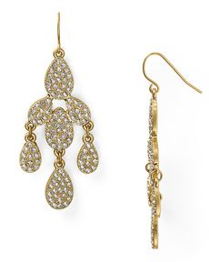 ABS by Allen Schwartz Pave Chandelier Earrings