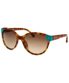 Michael By Michael Kors Women's Savannah Round Soft Tortoise Sunglasses
