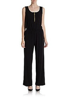 Ellen Tracy Zip-Front Jumpsuit