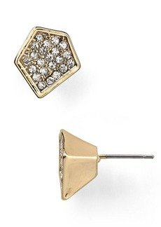 ABS by Allen Schwartz Pave Stud Earrings