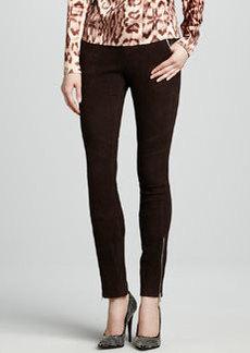 J Brand Ready to Wear Astrid Suede Zip-Pocket Pants