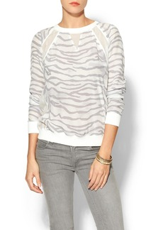Rebecca Taylor Long Sleeve Tiger Sweatshirt