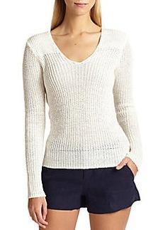 Joie Flanna Linen Sweater